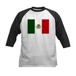 Mexico Flag Kids Baseball Jersey