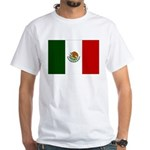 Mexico Flag White T-Shirt