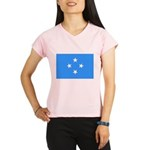 Micronesia Flag Performance Dry T-Shirt