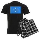 Micronesia Flag Men's Dark Pajamas