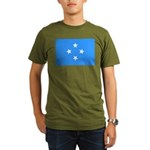 Micronesia Flag Organic Men's T-Shirt (dark)