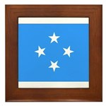 Micronesia Flag Framed Tile