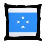 Micronesia Flag Throw Pillow