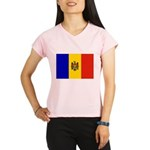 Moldova Flag Performance Dry T-Shirt