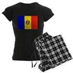 Moldova Flag Women's Dark Pajamas