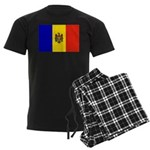 Moldova Flag Men's Dark Pajamas