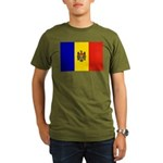 Moldova Flag Organic Men's T-Shirt (dark)