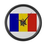 Moldova Flag Large Wall Clock