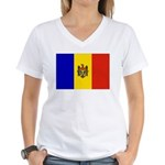 Moldova Flag Women's V-Neck T-Shirt