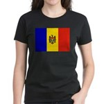 Moldova Flag Women's Dark T-Shirt