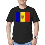 Moldova Flag Men's Fitted T-Shirt (dark)