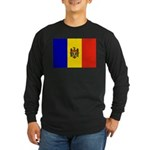 Moldova Flag Long Sleeve Dark T-Shirt