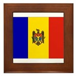 Moldova Flag Framed Tile