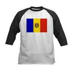 Moldova Flag Kids Baseball Jersey