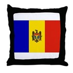 Moldova Flag Throw Pillow