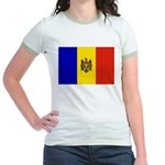 Moldova Flag Jr. Ringer T-Shirt