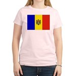 Moldova Flag Women's Light T-Shirt
