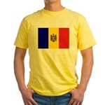 Moldova Flag Yellow T-Shirt