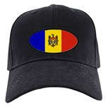Moldova Flag Black Cap