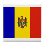 Moldova Flag Tile Coaster