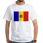 Moldova Flag White T-Shirt