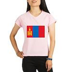 Mongolia Flag Performance Dry T-Shirt