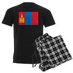 Mongolia Flag Men's Dark Pajamas