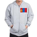 Mongolia Flag Zip Hoodie