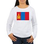 Mongolia Flag Women's Long Sleeve T-Shirt