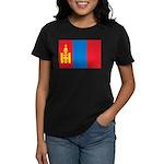 Mongolia Flag Women's Dark T-Shirt