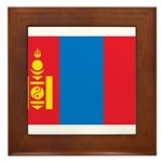 Mongolia Flag Framed Tile