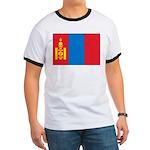 Mongolia Flag Ringer T