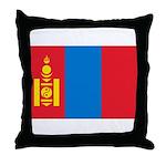 Mongolia Flag Throw Pillow