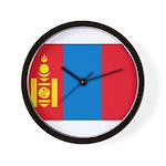 Mongolia Flag Wall Clock