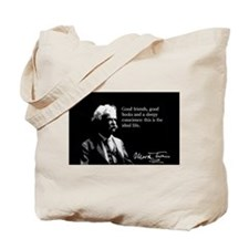 Mark Twain, The Ideal Life, Tote Bag
