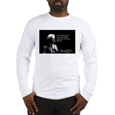 Mark Twain, The Ideal Life, Long Sleeve T-Shirt