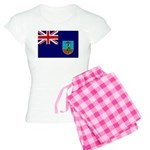 Montserrat Flag Women's Light Pajamas