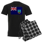 Montserrat Flag Men's Dark Pajamas