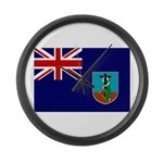 Montserrat Flag Large Wall Clock