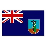 Montserrat Flag Sticker (Rectangle 50 pk)