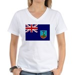 Montserrat Flag Women's V-Neck T-Shirt