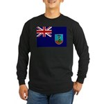 Montserrat Flag Long Sleeve Dark T-Shirt