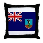 Montserrat Flag Throw Pillow