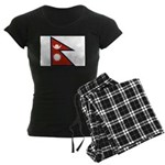 Nepal Flag Women's Dark Pajamas