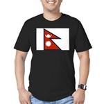 Nepal Flag Men's Fitted T-Shirt (dark)