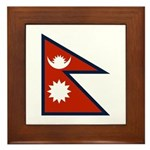 Nepal Flag Framed Tile