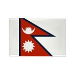 Nepal Flag Rectangle Magnet (10 pack)