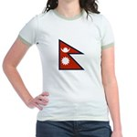Nepal Flag Jr. Ringer T-Shirt