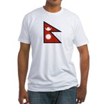 Nepal Flag Fitted T-Shirt