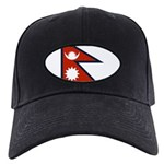 Nepal Flag Black Cap
